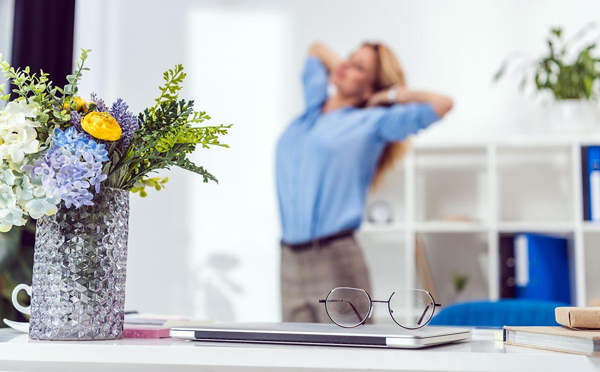 Locul de muncă, descoperă care sunt avantajele florilor din jurul nostru